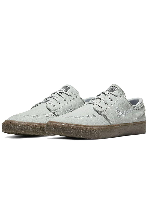 Tenis Nike Sb ZOOM JANOSKI FLYLEATHER RM Pure Platinum/Pure Platinum-Pure Platinum-Gum Lt Brown