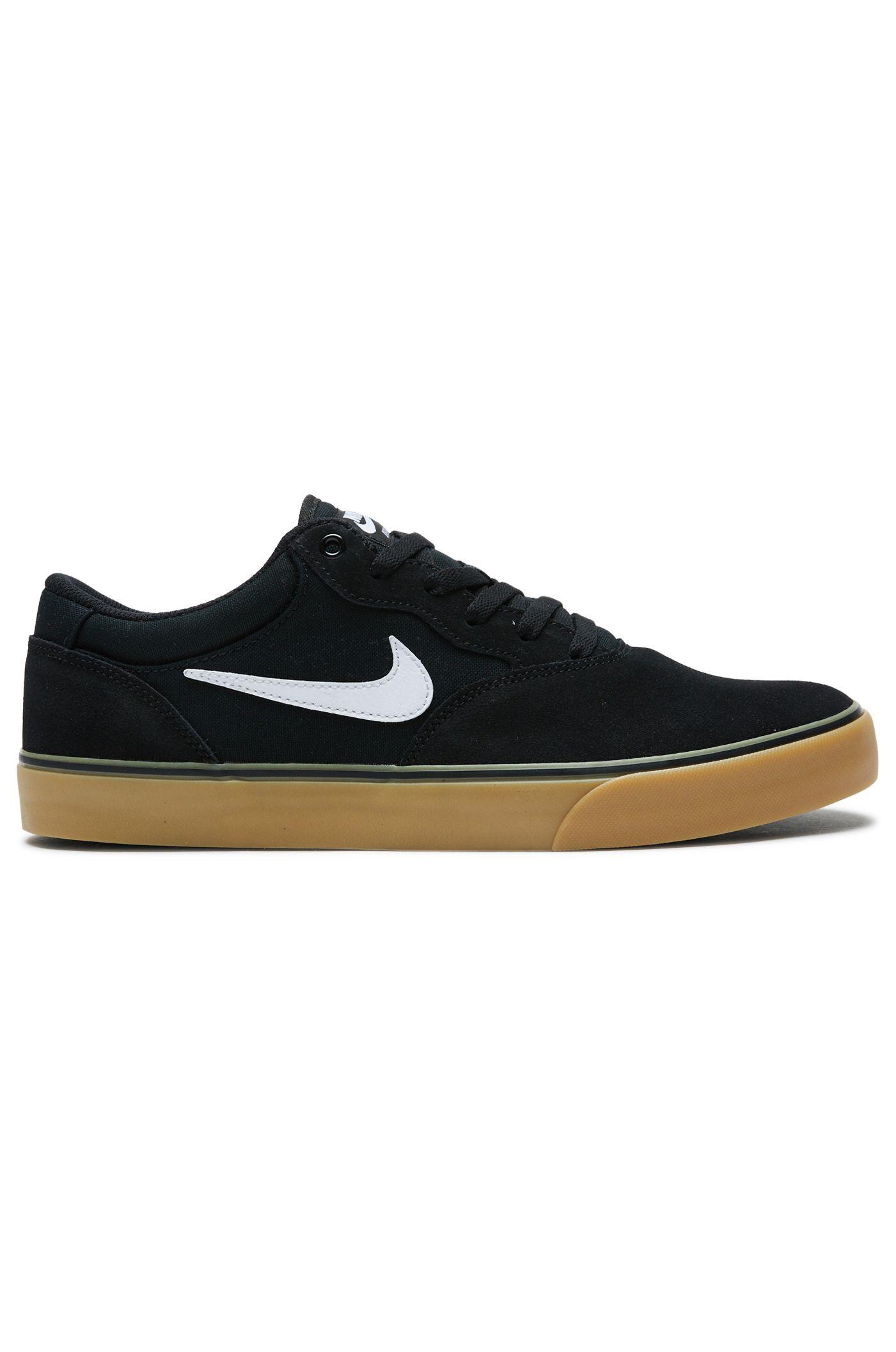 Nike Sb Shoes CHRON 2 Black/White-Black-Gum Light Brown