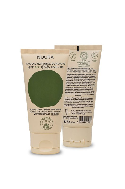 Nuura Sunscreen FACIAL NATURAL SUNCARE SPF 50+ 50ML Assorted