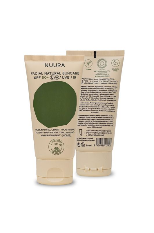 Prot.Solar Nuura FACIAL NATURAL SUNCARE SPF 50+ COLOR 50ML Assorted