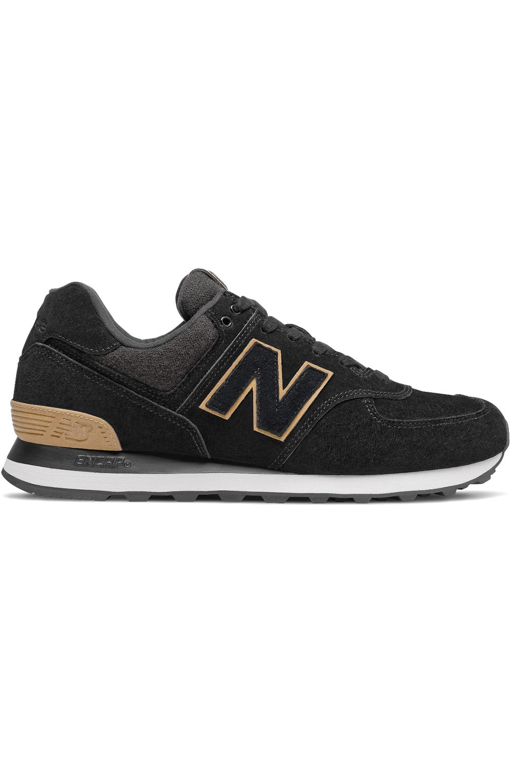 Tenis New Balance ML574 Black/Yellow