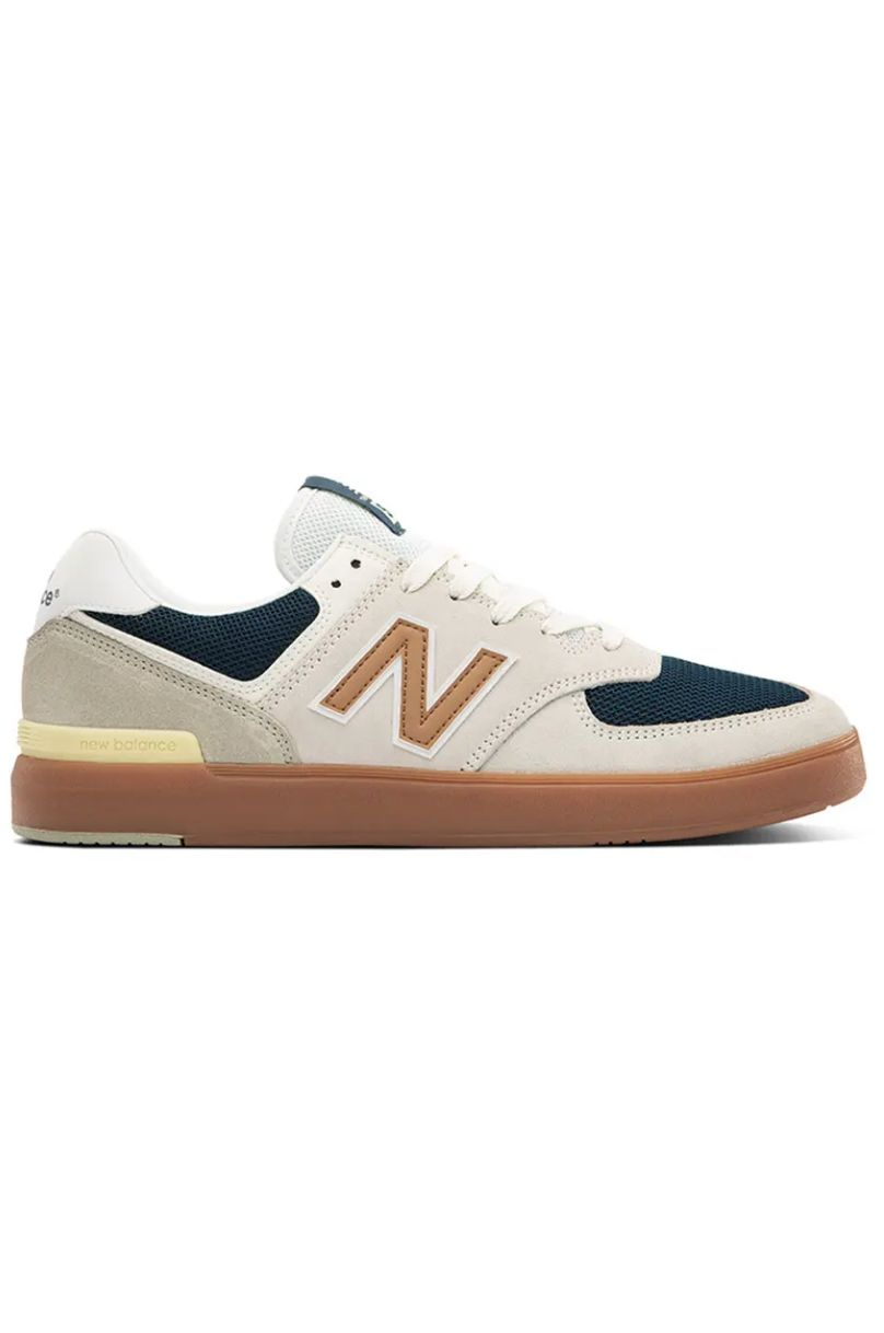 Tenis New Balance AM574 White/Gold