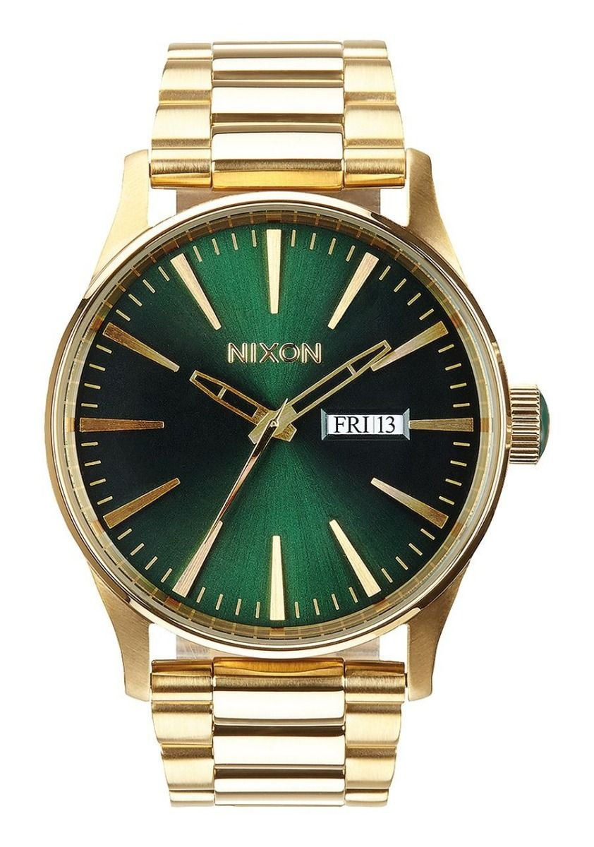 Nixon Watch SENTRY SS Gold/Green Sunray