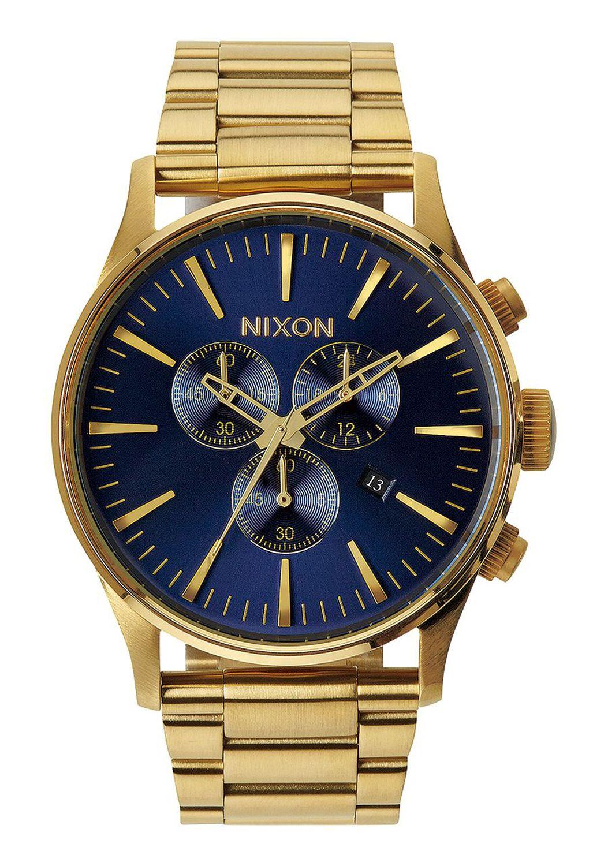 Nixon Watch SENTRY CHRONO Gold/Blue Sunray