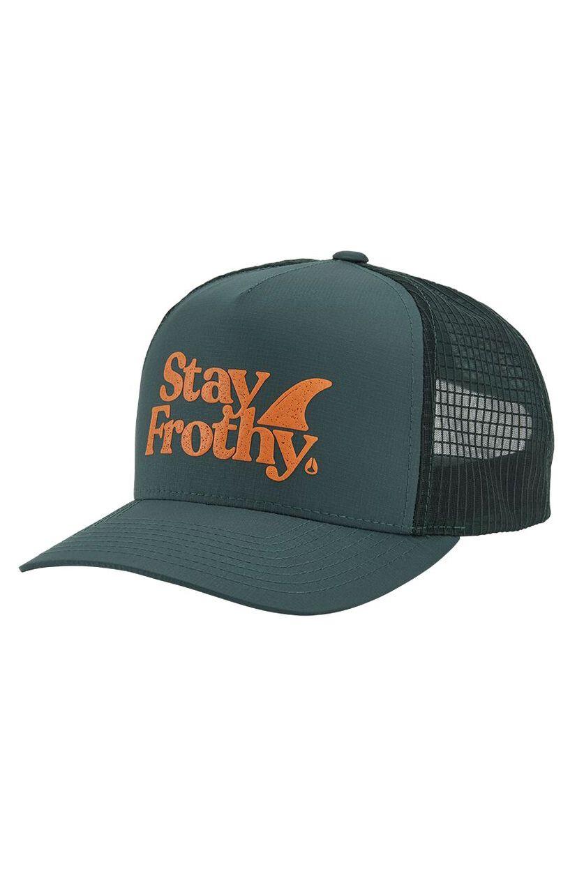 Bone Nixon FROTHY SNAPBACK HAT Sage/Orange