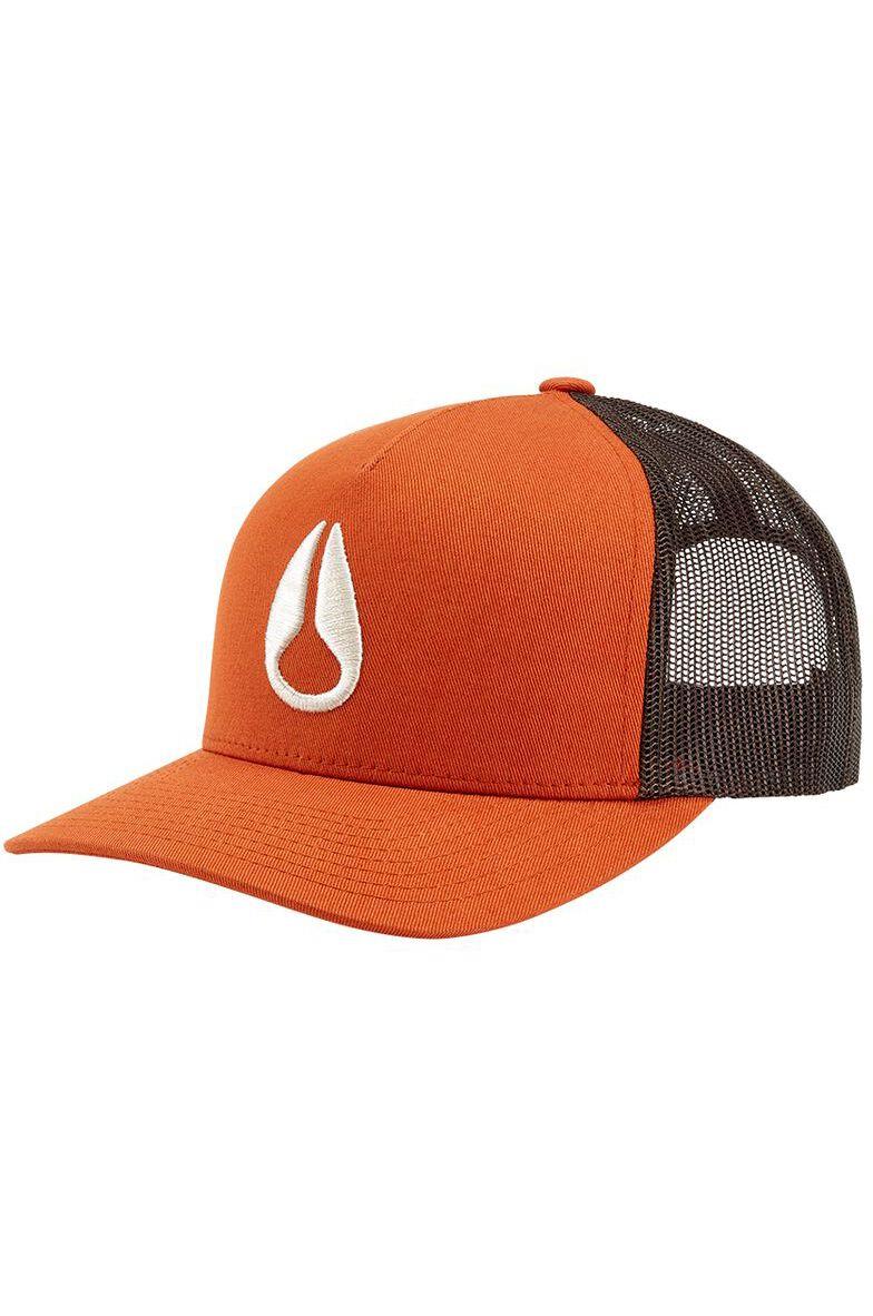Nixon Cap   ICONED TRUCKER HAT Orange/Brown