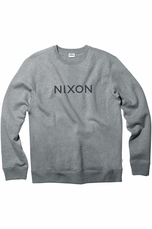 Sweat Basica Nixon WORDMARK Dark Heather Gray