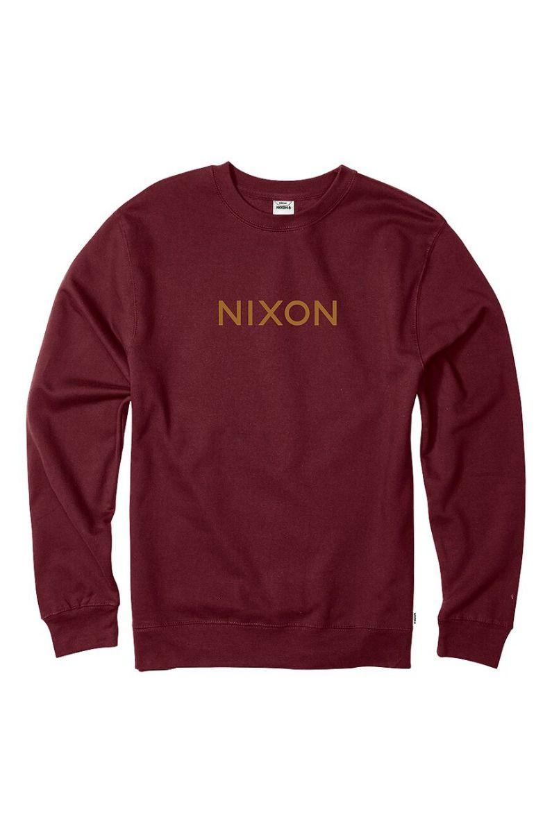 Nixon Crew Sweat WORDMARK CREW Burgundy