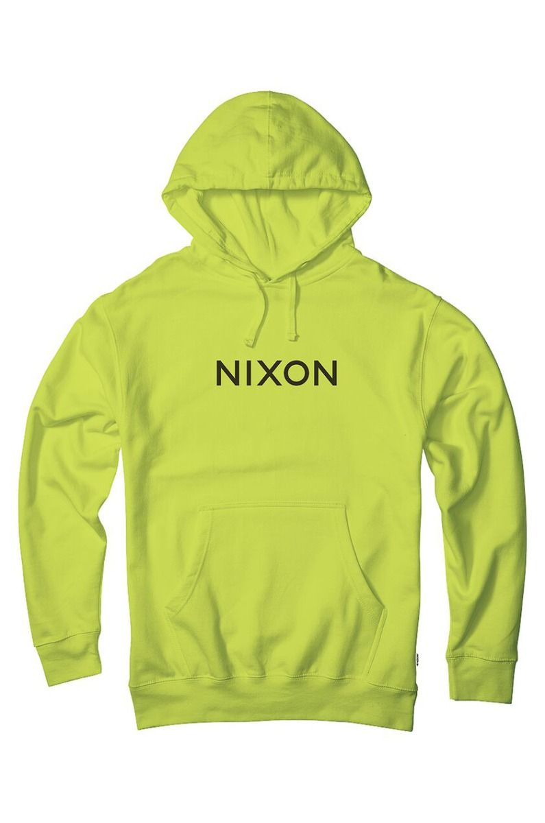 Nixon Sweat Hood WORDMARK PULLOVER Safety Green