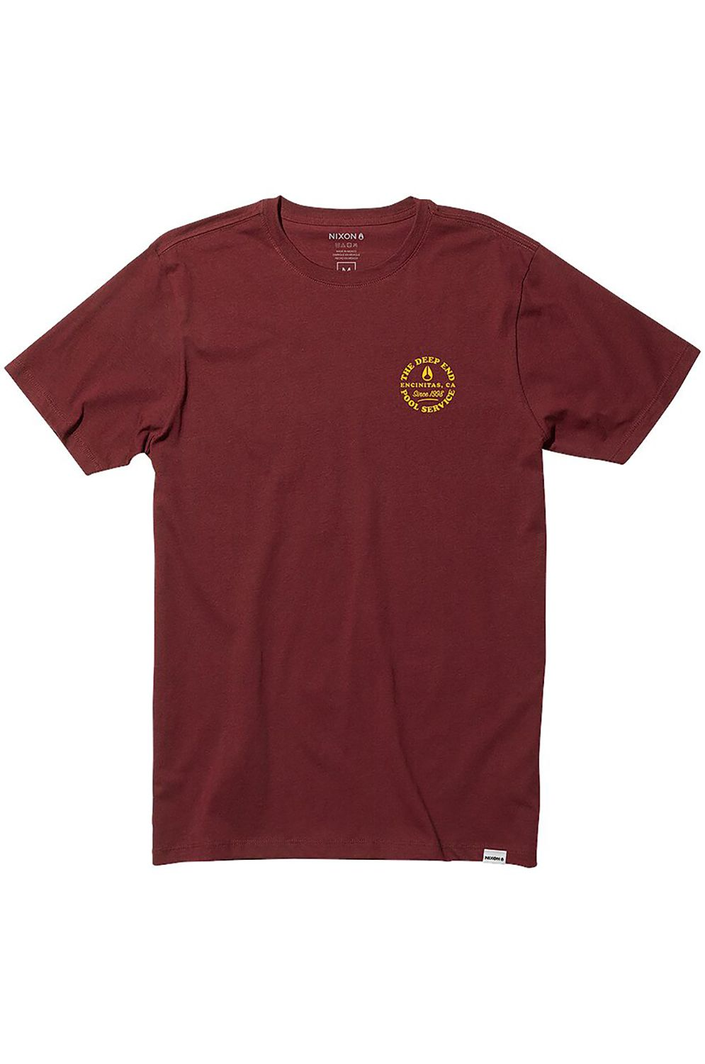 Nixon T-Shirt POOL SERVICE Burgundy