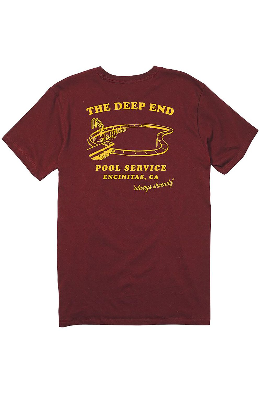 Nixon T-Shirt POOL SERVICE Burgundy
