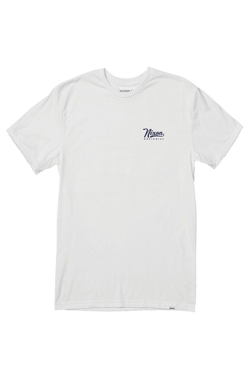 T-Shirt Nixon LOOPED S/S TEE White