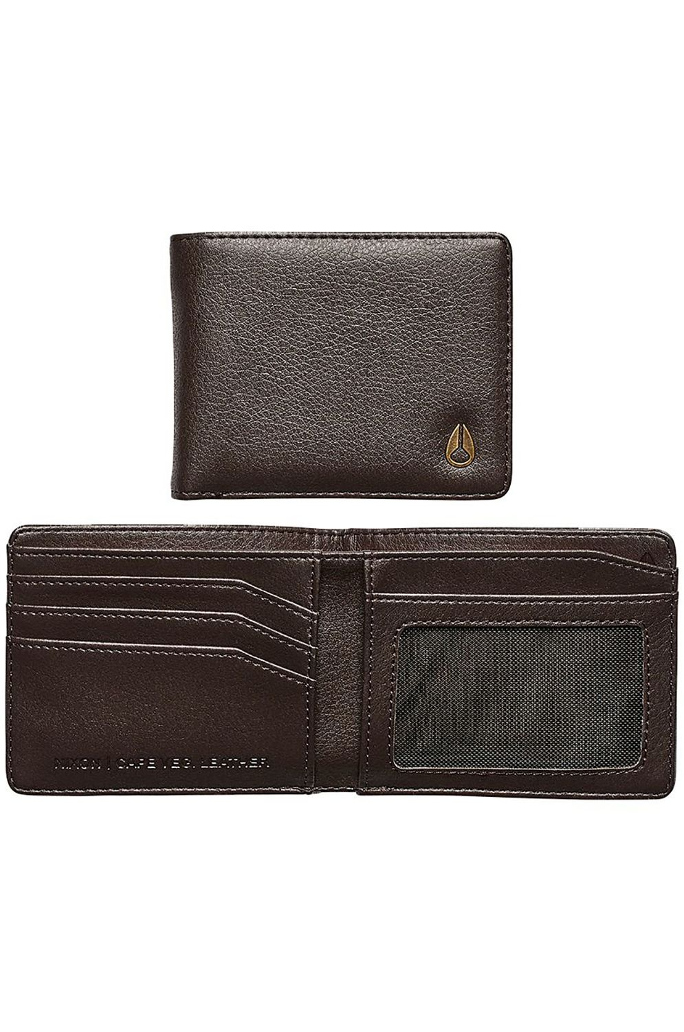 Nixon Leather Wallet PASS VEGAN LEATHER COIN Brown