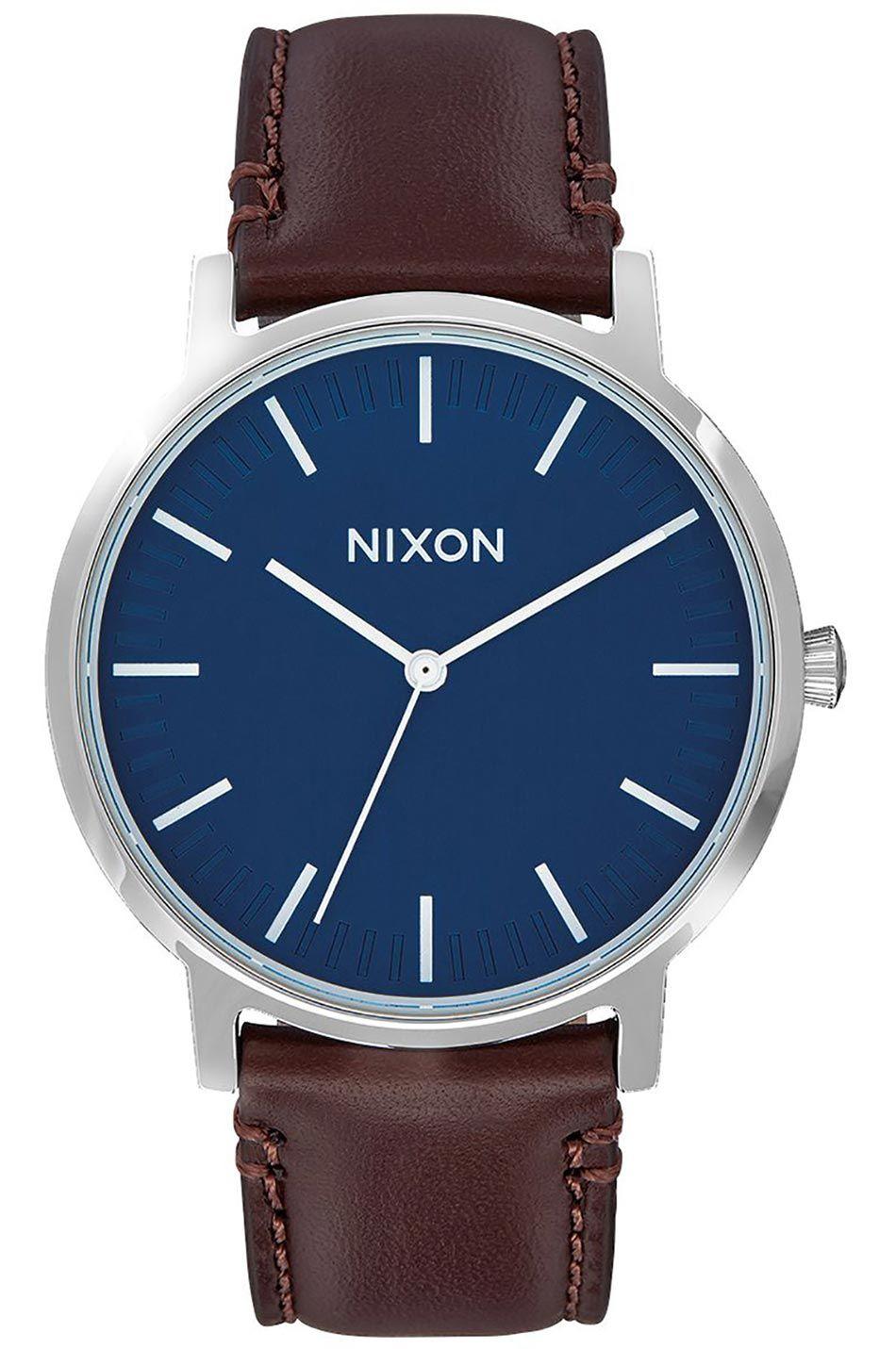 Nixon Watch PORTER LEATHER Navy/Brown