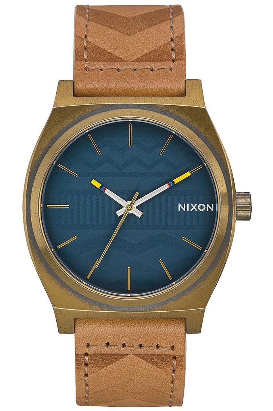Relogio Nixon Time Teller Brass/Navy/Hickory