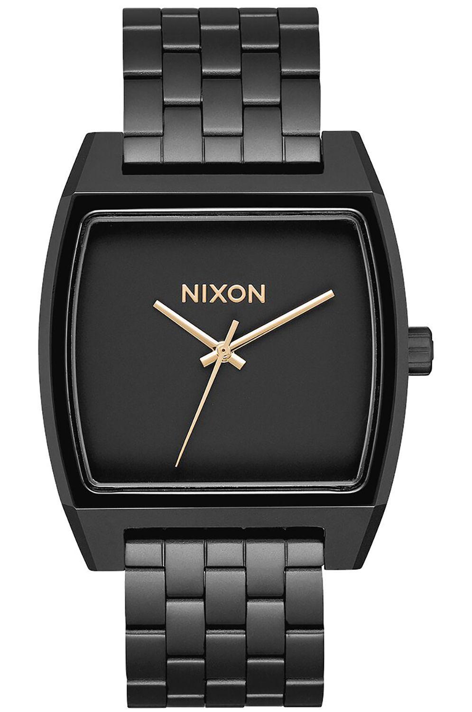Nixon Watch TIME TRACKER Matte Black/Gold