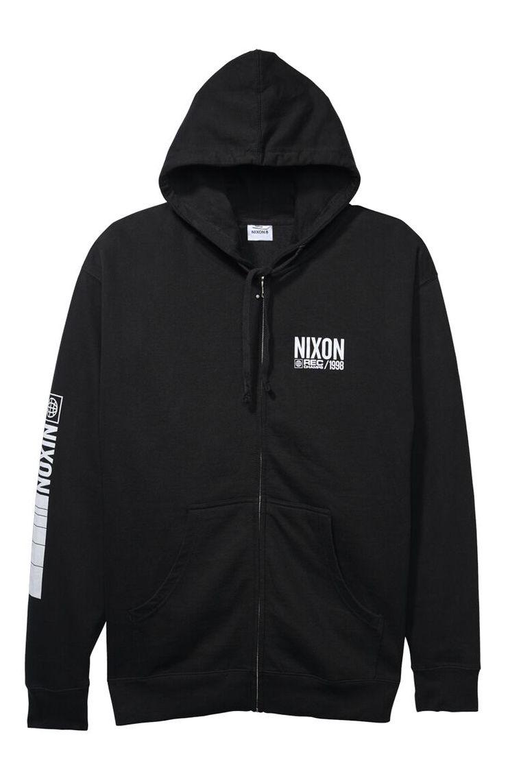 Nixon Sweat Zip Hood TRACK ZIP Black/White