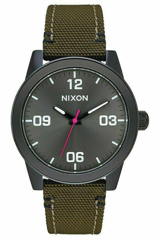 Nixon Watch G.I. NYLON Black/Olive