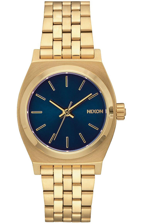 Relogio Nixon MEDIUM TIME TELLER All Light Gold/Cobalt