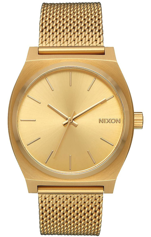 Relogio Nixon Time Teller Milanese All Gold