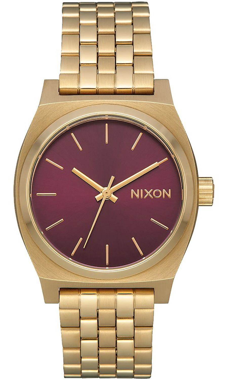 Nixon Watch MEDIUM TIME TELLER Light Gold/Bordeaux Sunray