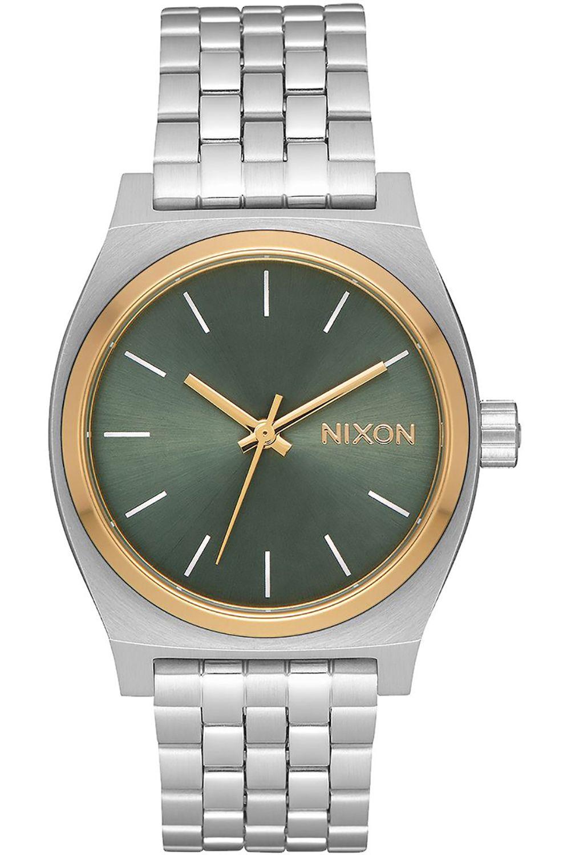 Relogio Nixon MEDIUM TIME TELLER Silver/Gold/Agave