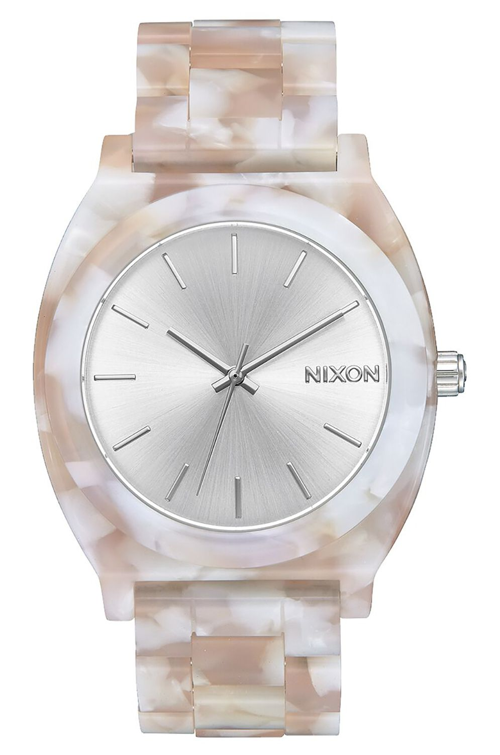 Nixon Watch TIME TELLER ACETATE Pink/Silver