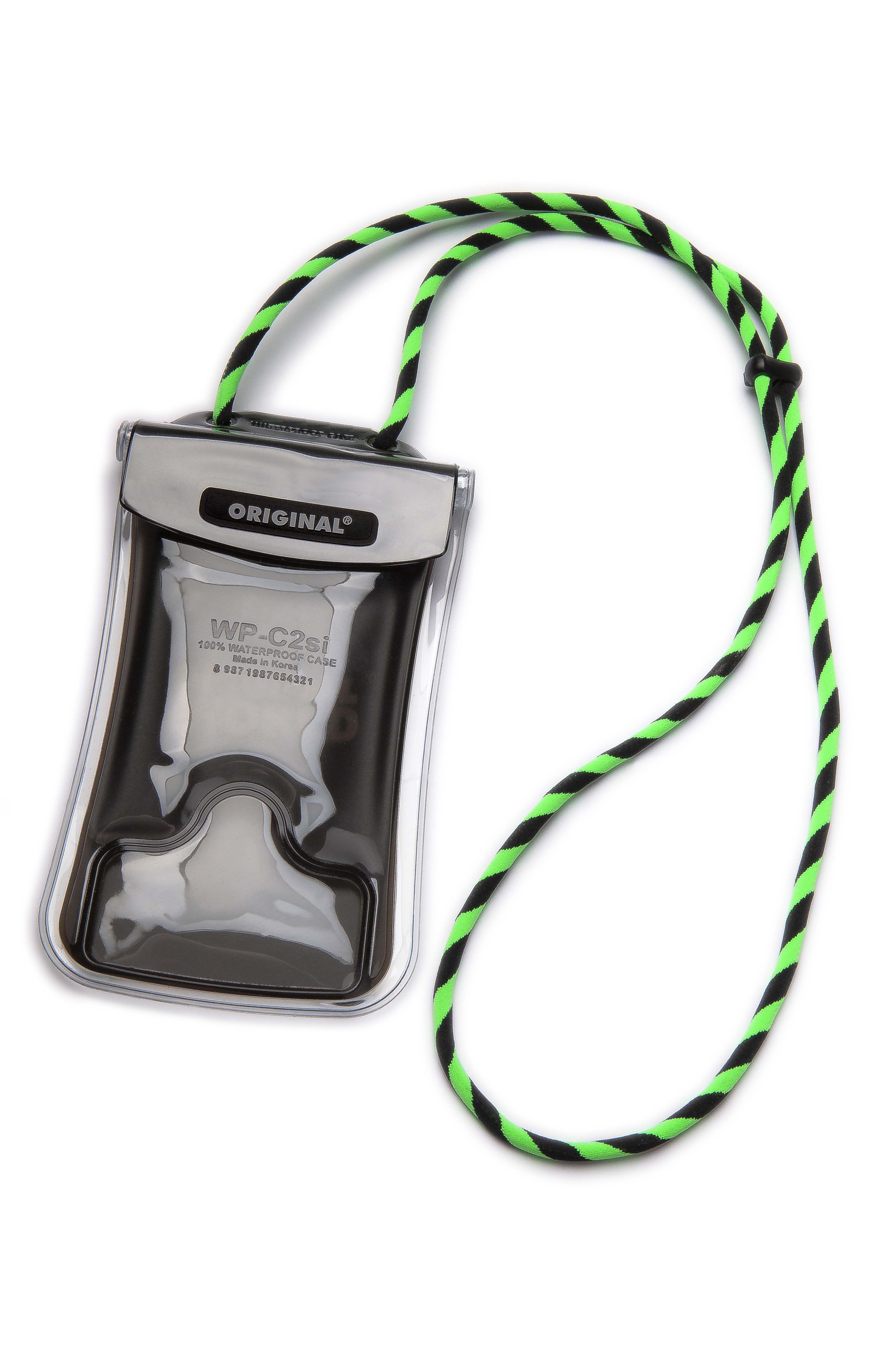 Original Lanyards Keychain SURFIE PRO XL CLEAR Hexachrome Green/Black