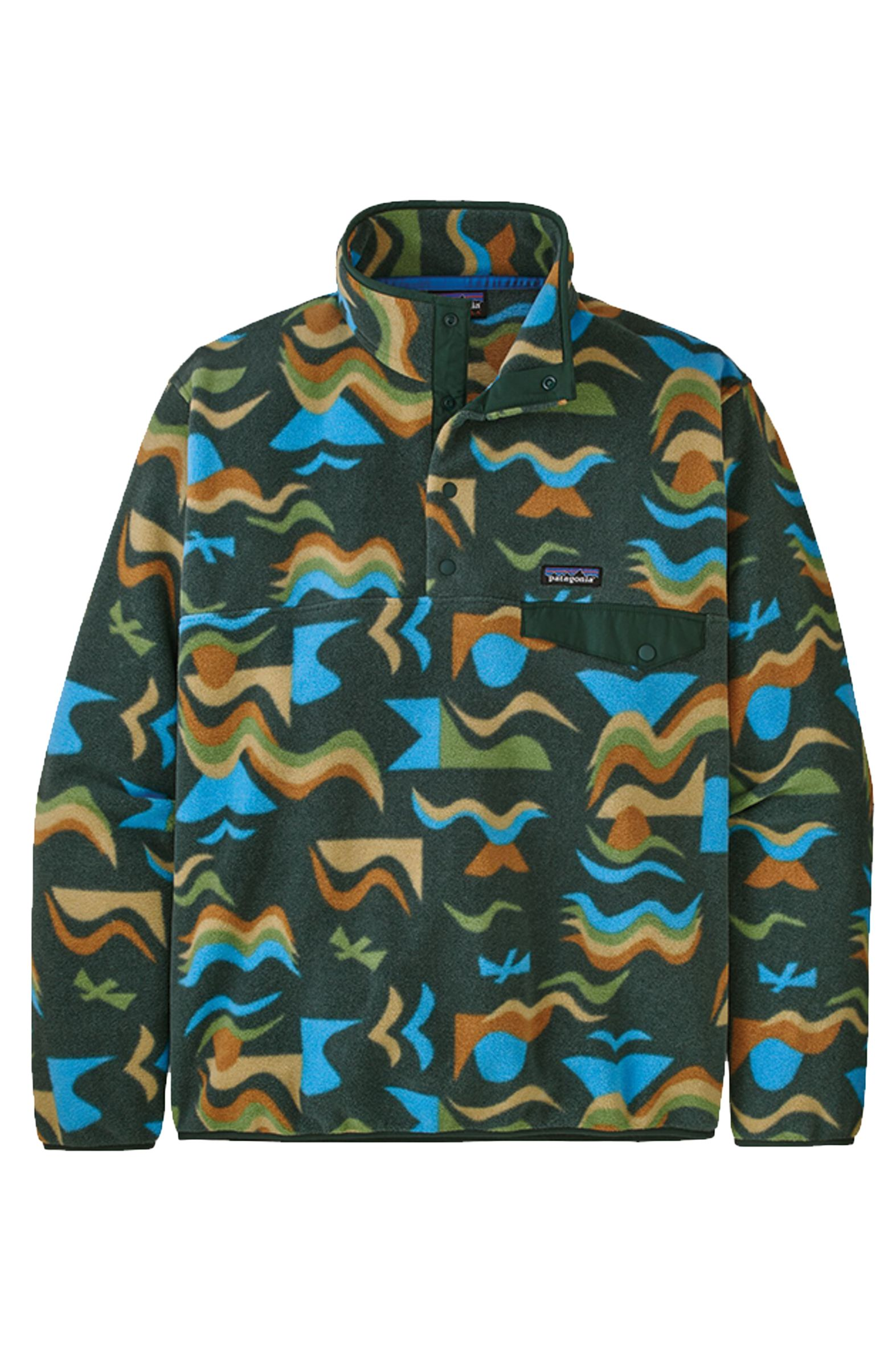 Sweat Polar Patagonia M'S LW SYNCH SNAP-T P/O - EU FIT Arctic Collage: Northern Green