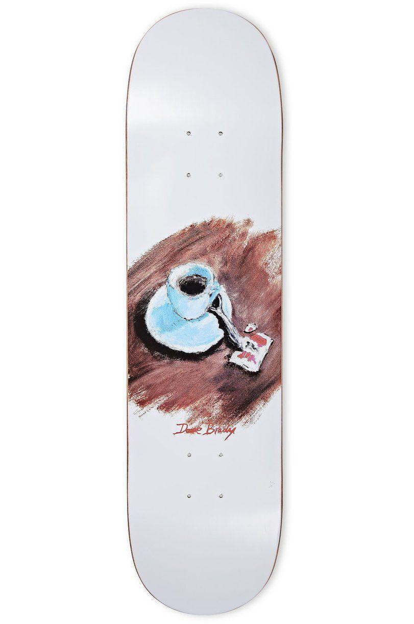 """Polar Skate Co Skate Board 8"""" DANE BRADY - CIMBALINO White"""