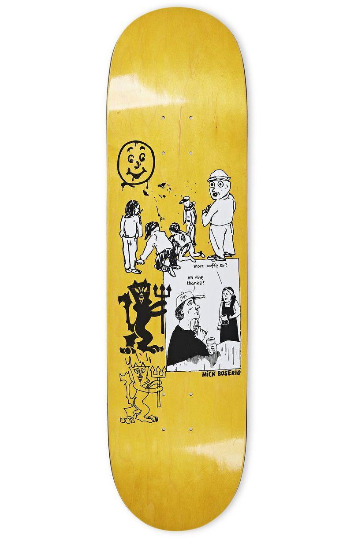 "Polar Skate Co Skate Board 8.5"" NICK BOSSERIO - YEAR 2020 Yellow"