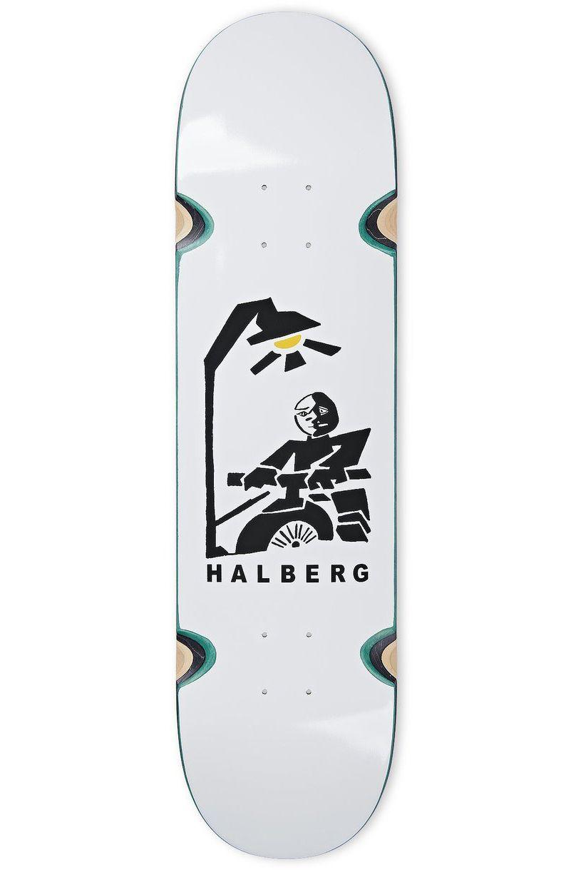 """Polar Skate Co Skate Board 8.5"""" HJALTE HALBERG - INSOMNIA WHEEL WELL White"""