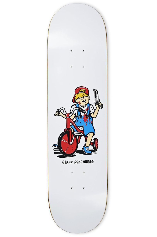 "Polar Skate Co Skate Board 8.25"" OSKAR ROZENBERG - TRICYCLE White"