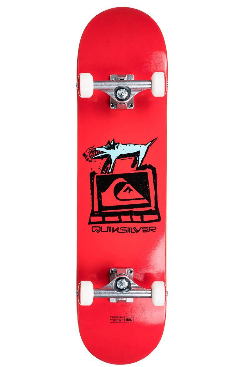"Street Skate Quiksilver 8"" X 32"" GHETTO DOG Red"