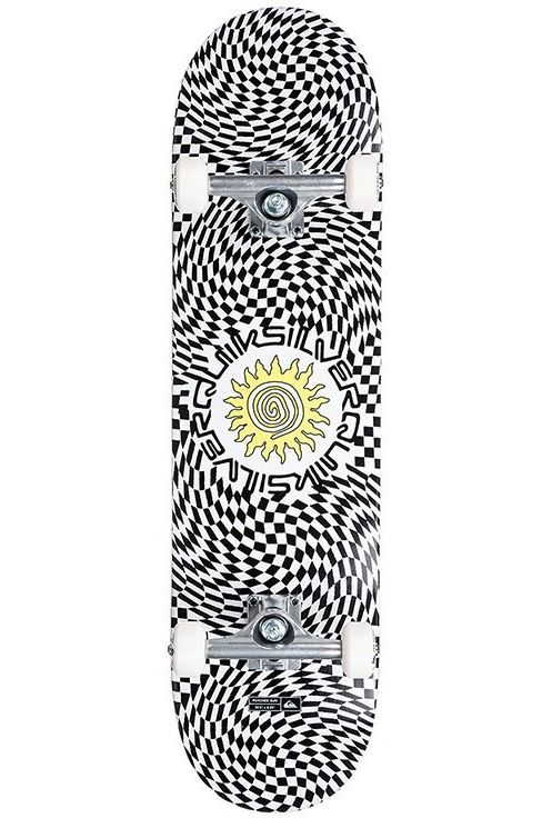 """Street Skate Quiksilver 8"""" X 32"""" PSYCHED SUN White"""