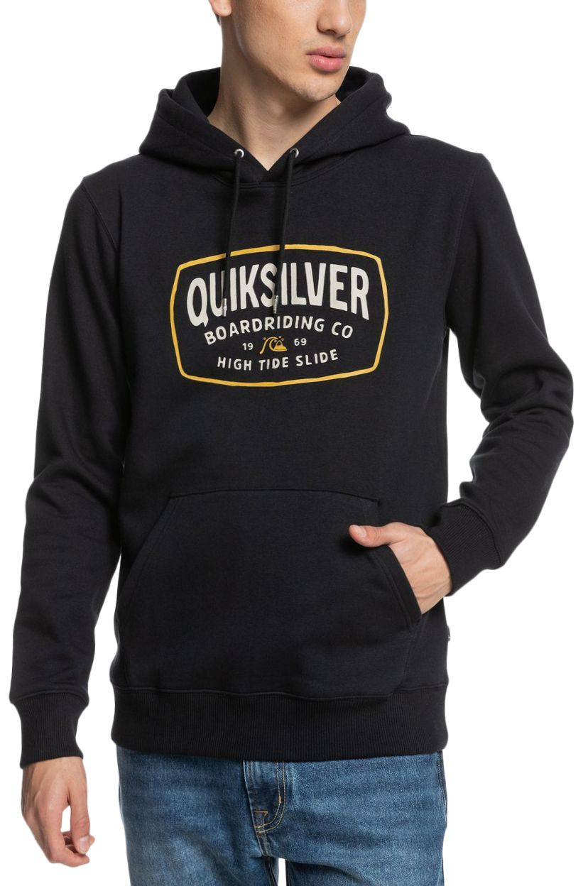 Quiksilver Sweat Hood HIGH CLOUD Black