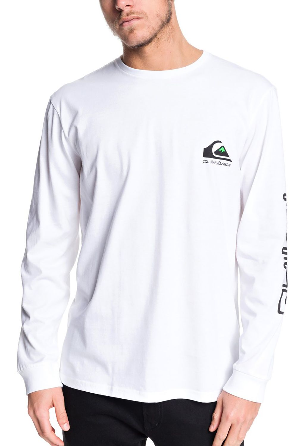 Quiksilver L-Sleeve OMNI LOGO CLASSIC White