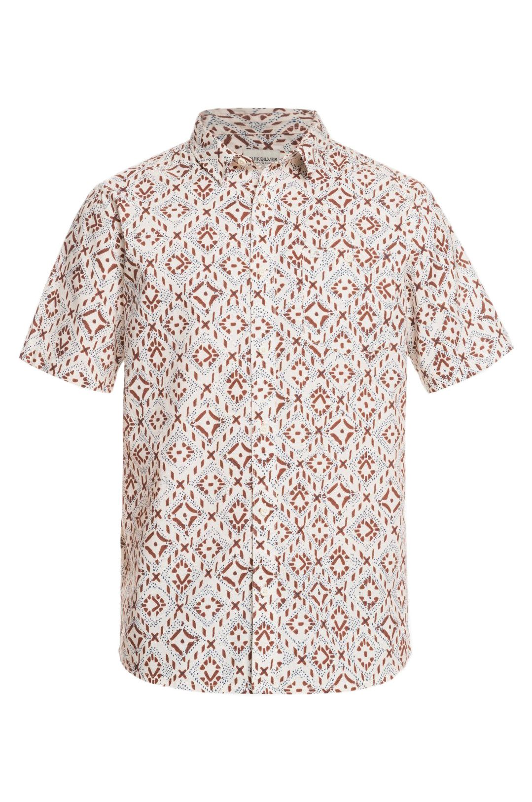 Camisa Quiksilver BAJA BLUES M WVTP Antique White Baja Blues