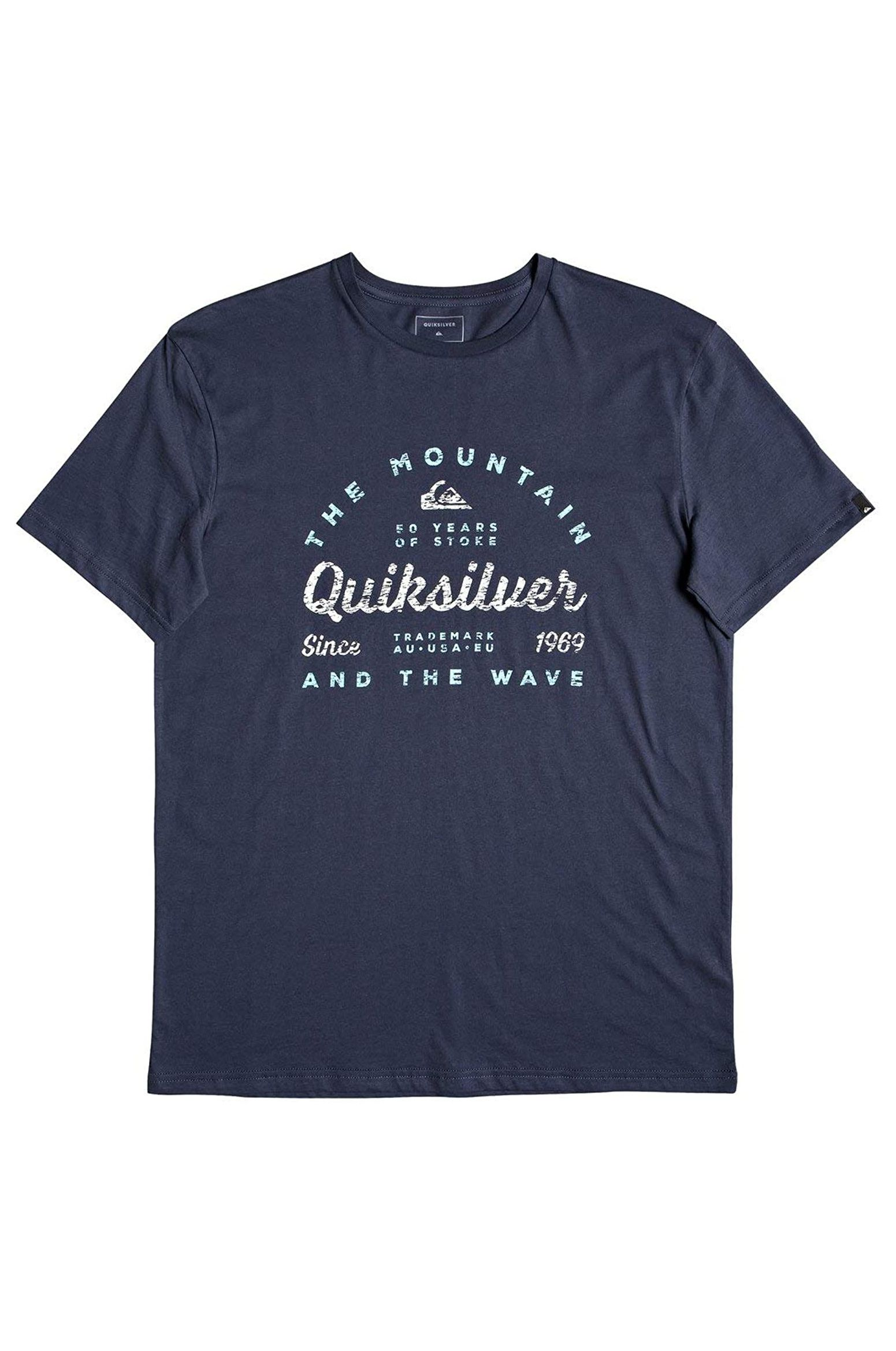T-Shirt Quiksilver DROPINDROPOUTSS M TEES Blue Nights