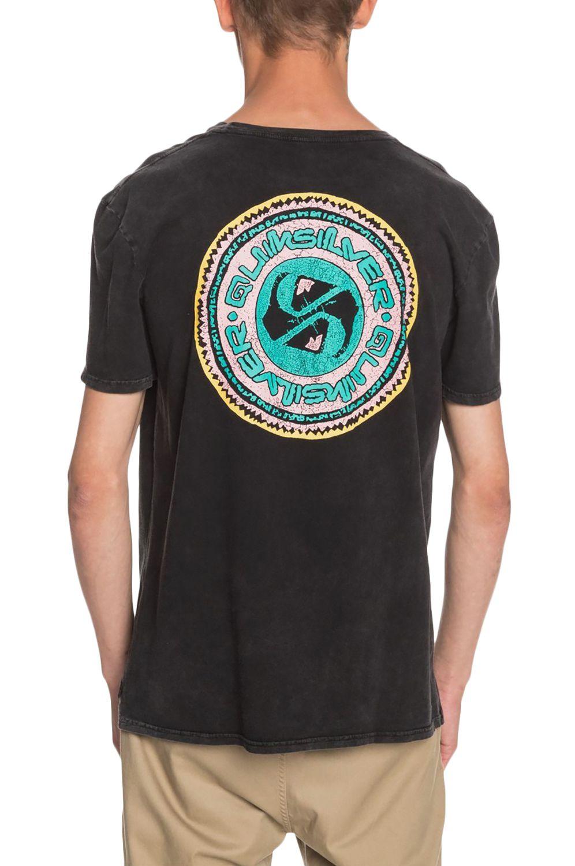 T-Shirt Quiksilver STICKAROUNDSS M TEES Black