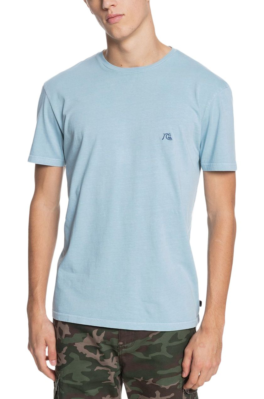 T-Shirt Quiksilver BASICBUBBLEEMBY M TEES Blue Spruce