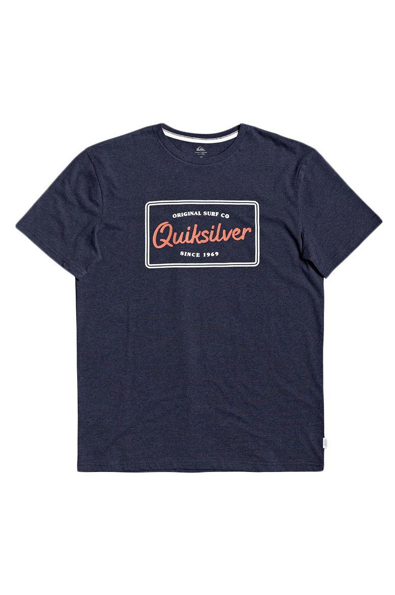 T-Shirt Quiksilver BLAZINGBACKSS M TEES Navy Blazer Heather