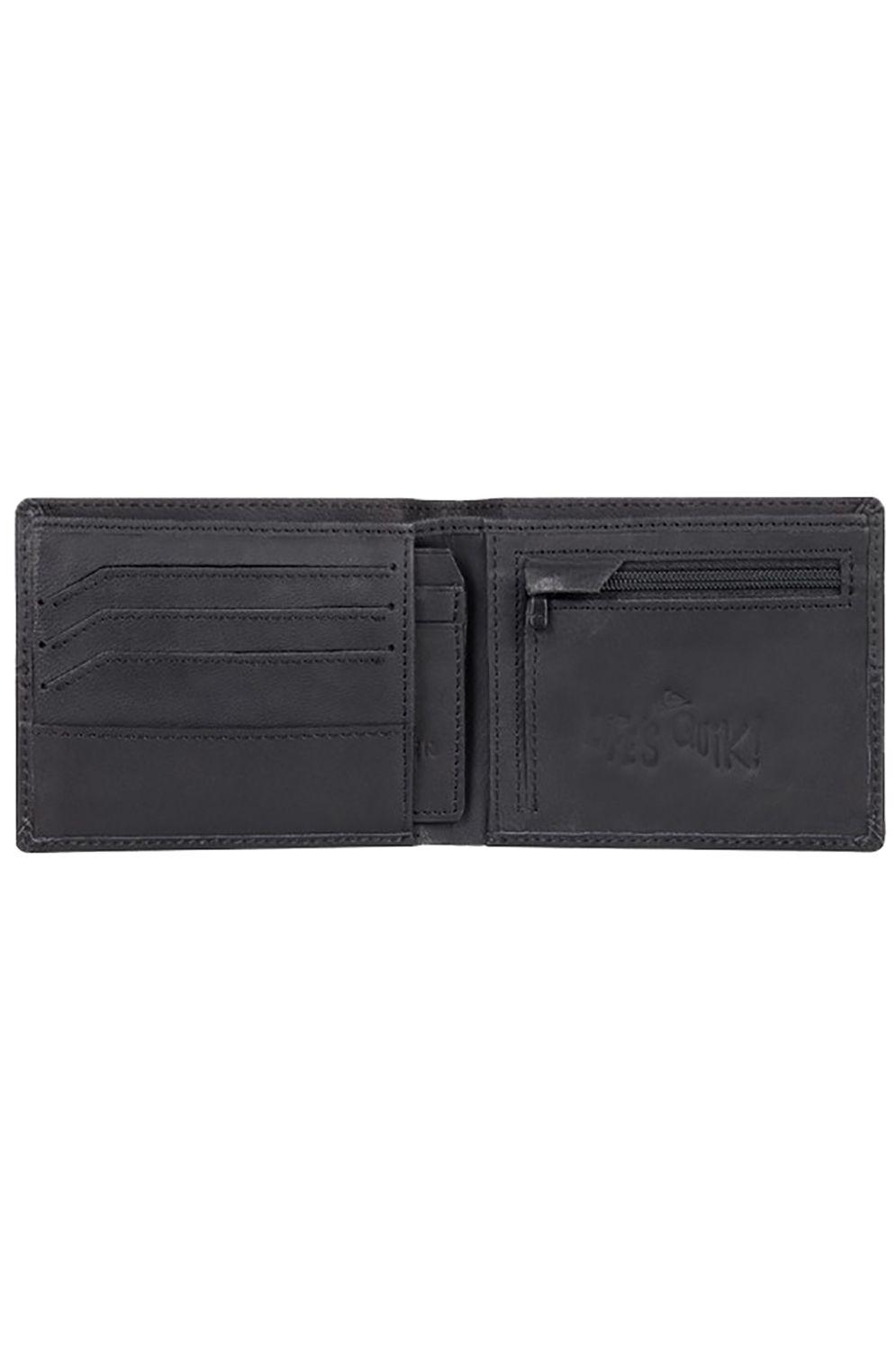 Quiksilver Leather Wallet DESERTRUKER Black