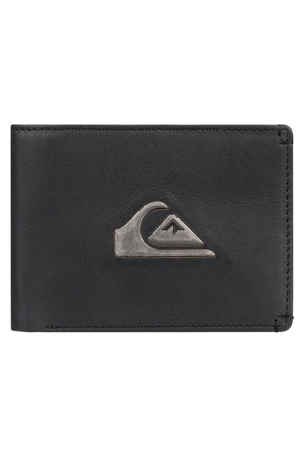 Quiksilver Leather Wallet NEWMISSDOLLARII Black