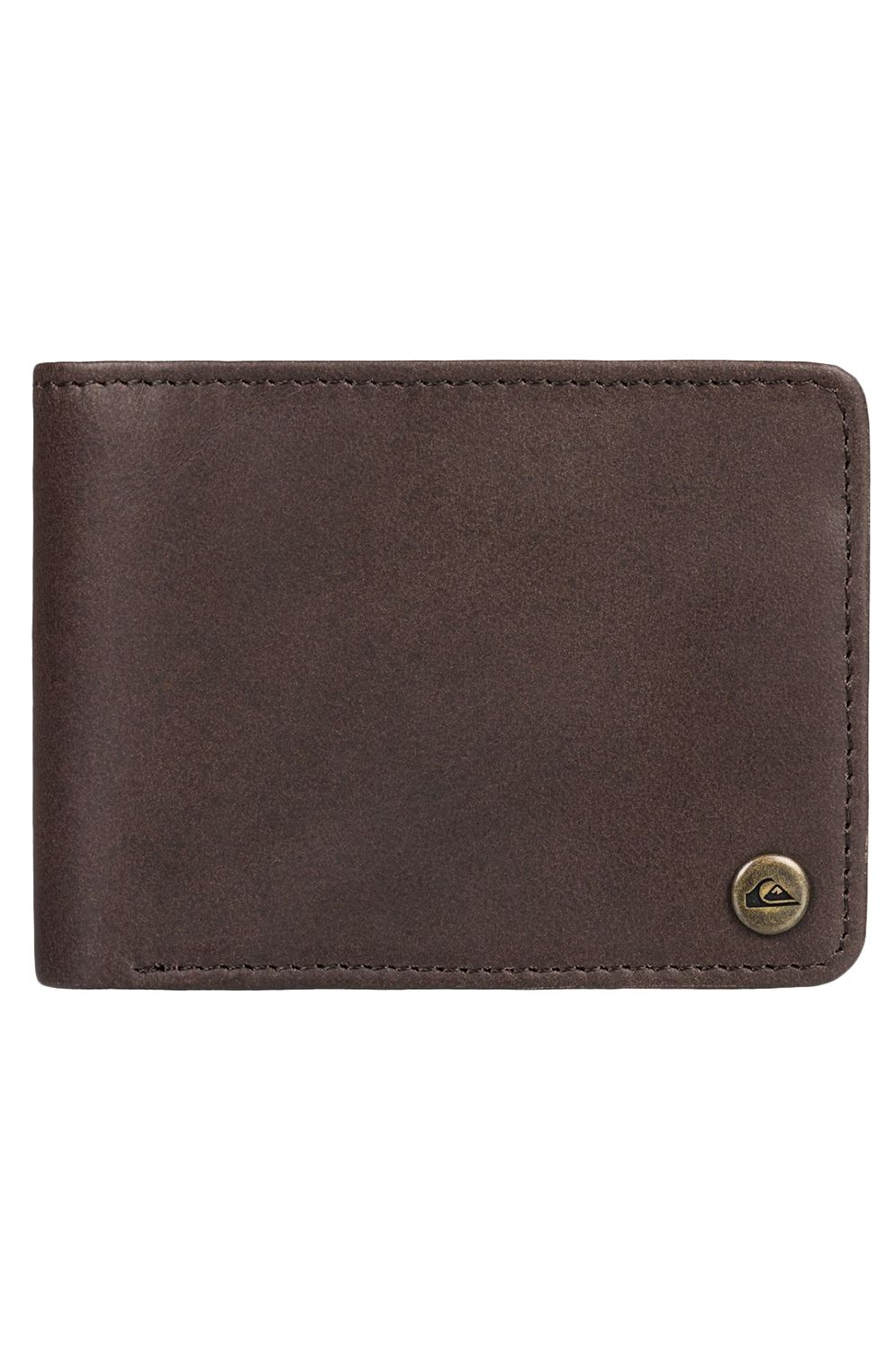 Quiksilver Leather Wallet MACK 2 M WLLT Chocolate Brown