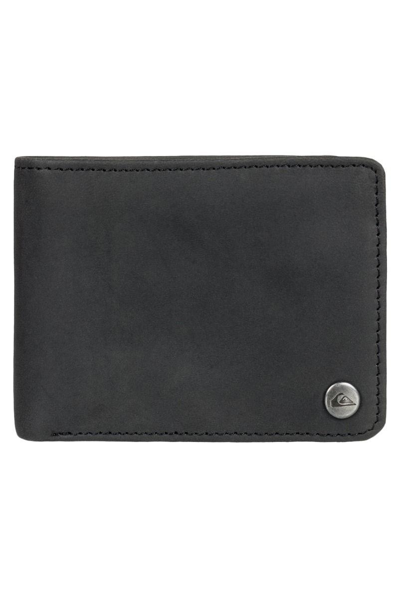 Quiksilver Leather Wallet MACK 2 M WLLT Black