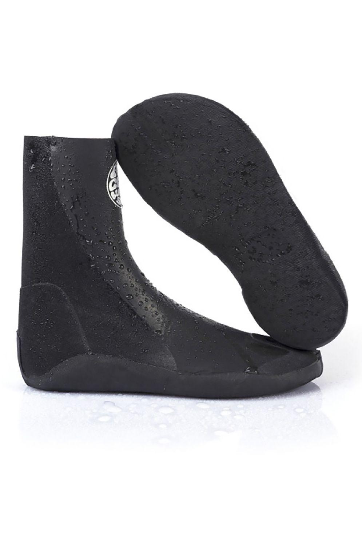 Rip Curl Neoprene Boots RUBBER SOUL PLUS 3MM BOOT - SPLIT TOE Black