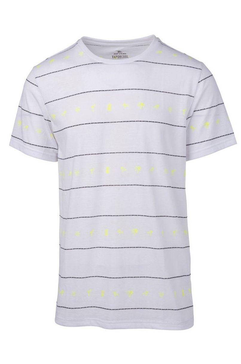 Rip Curl T-Shirt FLAMINGO REPEAT SS VC TEE Optical White