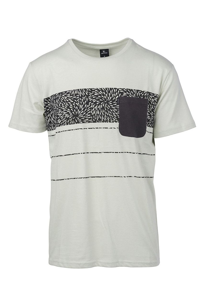 T-Shirt Rip Curl SQUAD BLOCK SS TEE Pale Green
