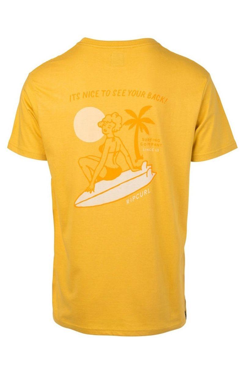 T-Shirt Rip Curl HEARTY VAHINE SS TEE Dirty Yellow